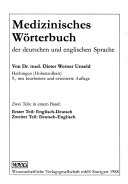 Medical Dictionary of the English and German Languages
