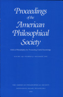 Proceedings, American Philosophical Society (vol. 145, no. 4, 2001) [Pdf/ePub] eBook