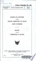 Survey of Activities of the House Committee on Rules  105th Congress