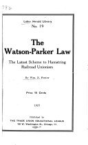 The Watson Parker Law