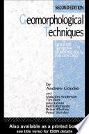 Geomorphological Techniques Book PDF