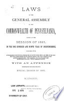 Laws of the General Assembly of the Commonwealth of Pennsylvania Passed at the Session Book PDF