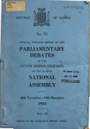 Official Verbatim Report of the Parliamentary Debates of the     National Assembly