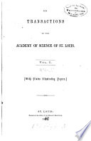 The Transactions of the Academy of Science of Saint Louis