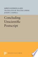 Concluding Unscientific Postscript Book PDF