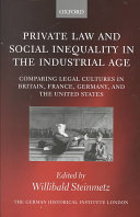 Private Law and Social Inequality in the Industrial Age