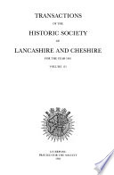 Transactions of the Historic Society of Lancashire and Cheshire for the Year ...