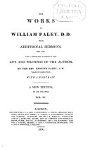 The Works of William Paley  Natural theology