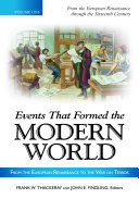 Events That Formed the Modern World  From the European Renaissance through the War on Terror  5 volumes