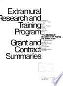 Extramural Research and Training Program