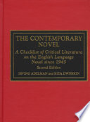 The Contemporary Novel