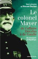 Pdf Le colonel Mayer Telecharger