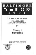 Technical Papers 1991 Acsm Asprs Annual Convention Book PDF