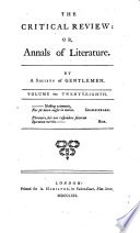 The Critical Review Or Annals Of Literature Book PDF