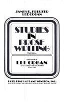 Studies in Prose Writing