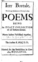 Iter Boreale  with large additions of several other poems   The Recantation of a penitent Proteus  The fair Quarrel       Never before published together