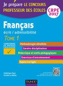 Français - Professeur des écoles - Ecrit, admissibilité - T1 - CRPE 2017