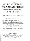 Philosophical Transactions to the Year ____ Abridged and Disposed Under General Heads