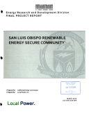 San Luis Obispo Renewable Energy Secure Community