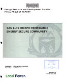 San Luis Obispo Renewable Energy Secure Community Book