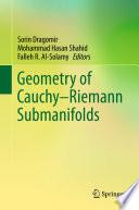 Geometry of Cauchy Riemann Submanifolds Book