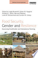 Food Security  Gender and Resilience Book
