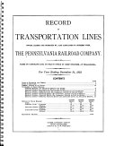 Record of Transportation Lines Owned and Operated by and Associated in Interest with the Pennsylvania Railroad