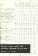 Annual report on the police administration of the province of Assam