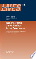 Nonlinear Time Series Analysis in the Geosciences Book