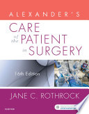"""Alexander's Care of the Patient in Surgery E-Book"" by Jane C. Rothrock"
