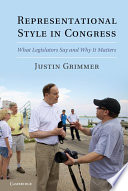 Representational Style in Congress