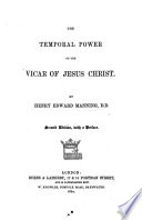 The Temporal Power of the Vicar of Jesus Christ Book