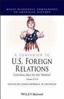 A Companion to U.S. Foreign Relations Pdf/ePub eBook