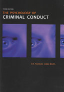 The Psychology of Criminal Conduct Book