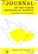 Journal of the Czech Geological Society