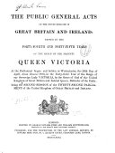 The Public General Acts of the United Kingdom of Great Britain and Ireland