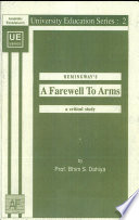 Hemingway's A Farewell To Arms : a Critical Study