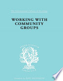 Working with Community Groups Book PDF