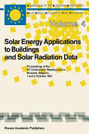 Solar Energy Applications to Buildings and Solar Radiation Data Book