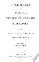 Cyclopædia of Biblical, Theological, and Ecclesiastical Literature