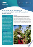 Agricultural water management innovations to build resilient food systems in West Africa