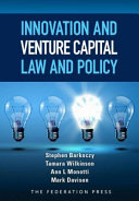 Cover of Innovation and Venture Capital Law and Policy