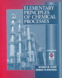 Elementary Principles of Chemical Processes Book