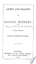 Lights and Shadows of Asiatic History Book