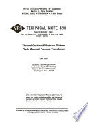 Thermal Gradient Effects on Thirteen Flush Mounted Pressure Transducers