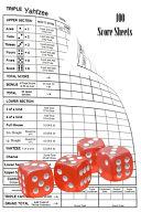 Triple Yahtzee 100 Score Sheets