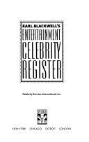 Earl Blackwell's Entertainment Celebrity Register