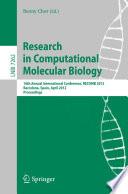 Research in Computational Molecular Biology Book