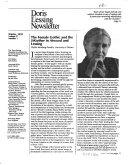 Doris Lessing Newsletter