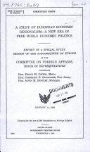 A Study of European Economic Regionalism